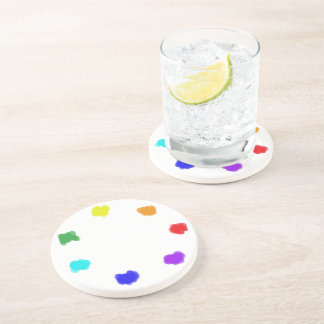 Pleasing Palette ~~ Multicolored Collage Drink Coaster