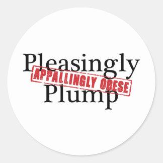 Pleasingly Plump APPALLINGLY OBESE Sticker