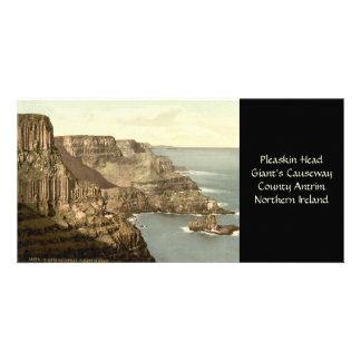 Pleaskin Head, Giant's Causeway, County Antrim Personalized Photo Card