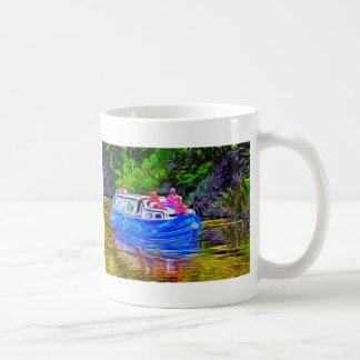 Pleasure Boat on Canal Coffee Mug