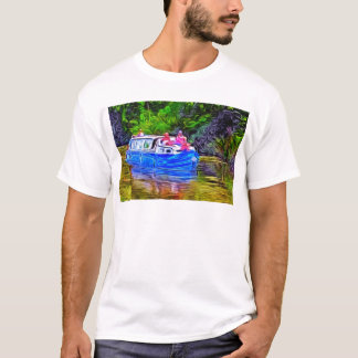 Pleasure Boat on Canal T-Shirt
