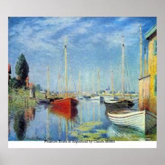 Pleasure Boats at Argenteuil by Claude Monet Print