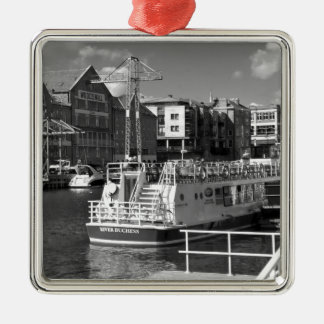 Pleasure boats on the York river Ouse. Metal Ornament