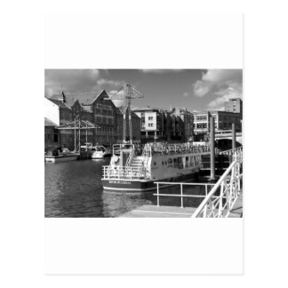 Pleasure boats on the York river Ouse. Postcard