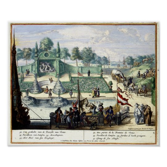 Pleasure Gardens of Enghien (1685) Brussels Poster