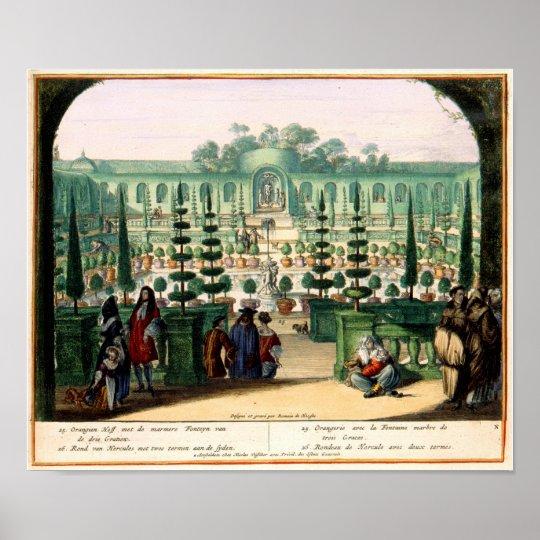 Pleasure Gardens of Enghien (1685) Brussels Poster
