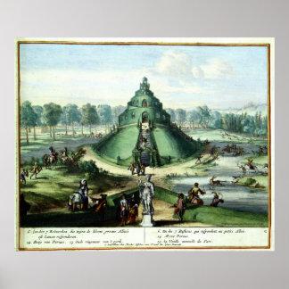 Pleasure Gardens of Enghien (1685) Posters