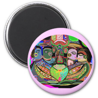 Pleasure Grid Ovel - Pride Art Magnets