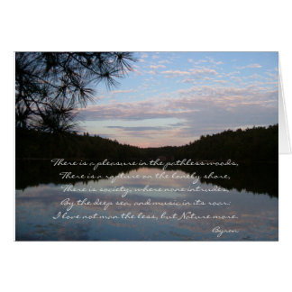 'Pleasure in the pathless woods' Greeting Card