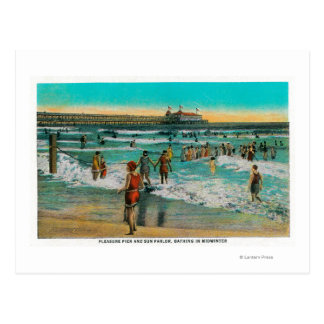 Pleasure Pier and Sun Parlor Postcard