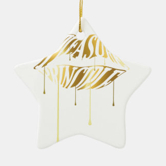 Pleasure Principle Double-Sided Star Ceramic Christmas Ornament