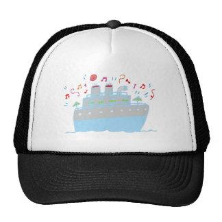 Pleasure steamer pleasure boat mesh hats