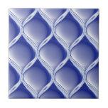 Pleated Cobalt Ceramic Tile