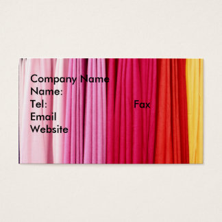 pleated colorful fabric business ca            ... business card