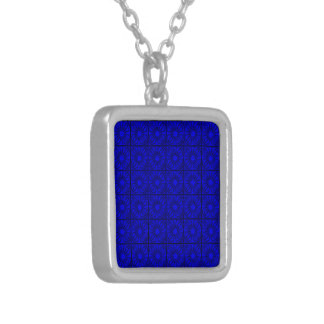 Pleated-Corners-BLUE-Sq NECKLACE