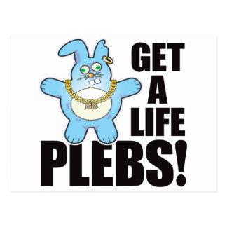Plebs Bad Bun Life Postcard