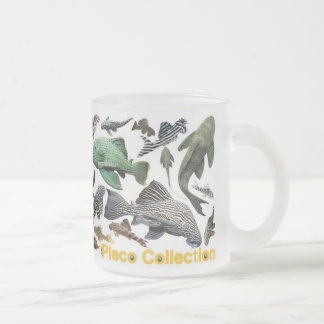 Plecos Frosted Glass Coffee Mug