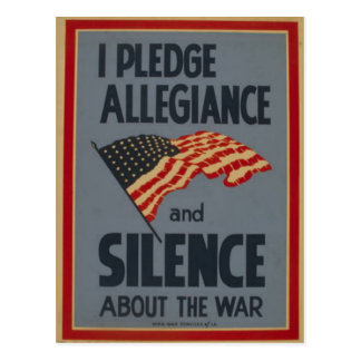 Pledge Allegiance - 1941 Postcard