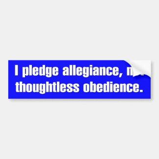 Pledge Allegiance Bumper Sticker