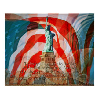 Pledge Allegiance To The Flag II Poster