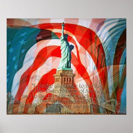 Pledge Allegiance To The Flag II Print