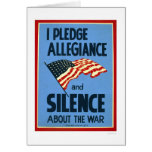 Pledge Allegiance War 1941 WPA Card