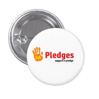 Pledge badge pinback button