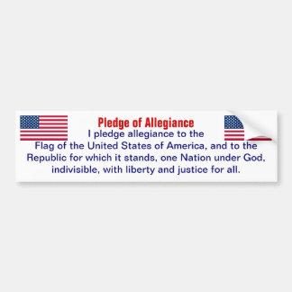 Pledge of Allegiance bumper sticker