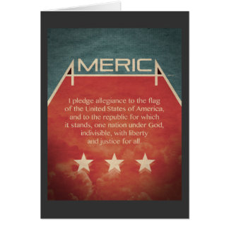 Pledge of Allegiance Card