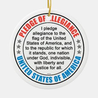 Pledge of Allegiance Ceramic Ornament