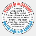 Pledge of Allegiance Classic Round Sticker