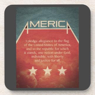 Pledge of Allegiance Coasters