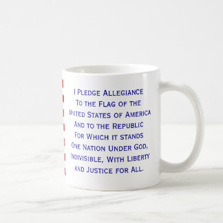 Pledge of Allegiance Flag Mug by Janz