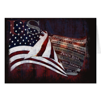 Pledge of Allegiance gifts & Greetings Card