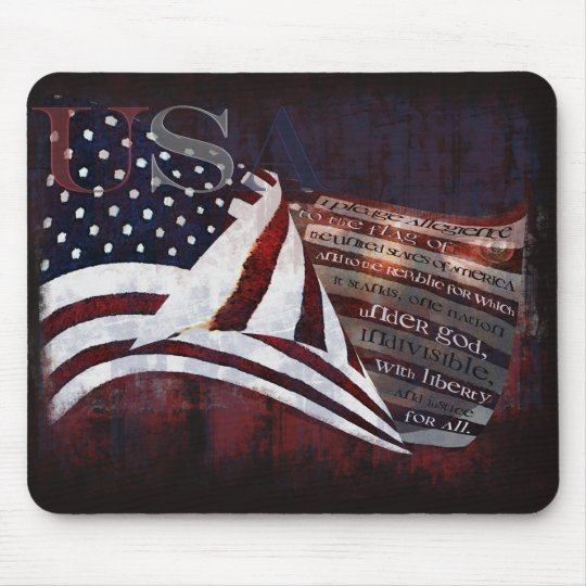 Pledge of Allegiance gifts & Greetings Mouse Pad
