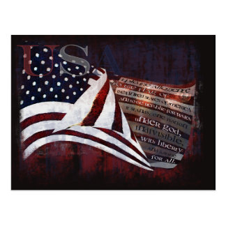 Pledge of Allegiance gifts & Greetings Postcard