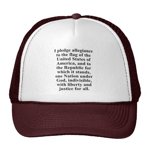 Pledge of Allegiance Hats