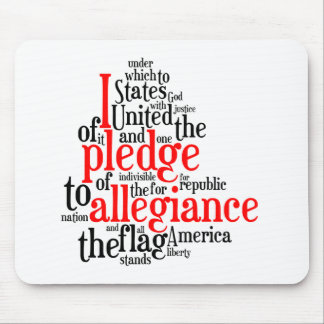 Pledge of Allegiance in Tagxedo Mouse Pad