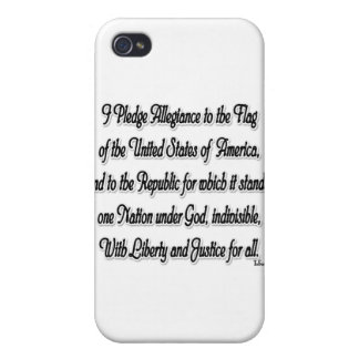 Pledge of Allegiance iPhone 4/4S Covers