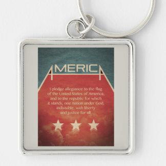 Pledge of Allegiance Key Chain