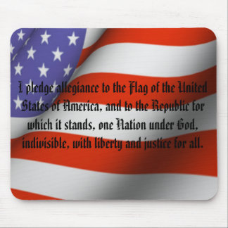 Pledge of Allegiance Mouse Pad