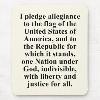 Pledge of Allegiance Mouse Pad