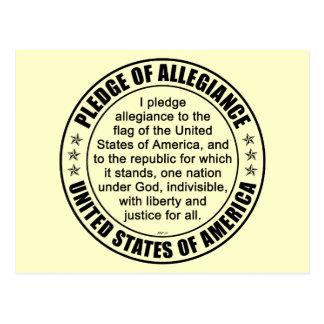 Pledge of Allegiance Post Cards