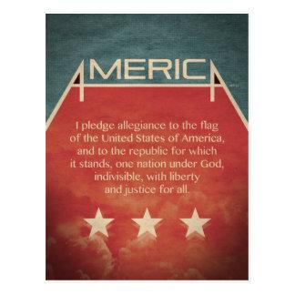 Pledge of Allegiance Post Card