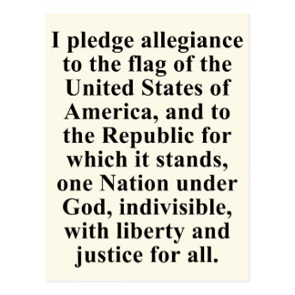 Pledge of Allegiance Postcard