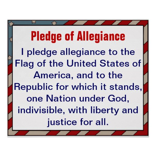 allegiance essay god pledge should taken The pledge of allegiance pledge allegiance to the flag of united states of america and to the republic for which it stands one nation under god.