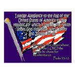 Pledge of Allegiance Psalm 33:12 Post Card