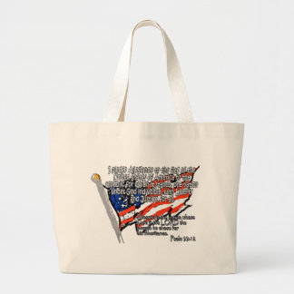 Pledge of Allegiance Psalm 33:12 Tote Bags