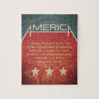 Pledge of Allegiance Jigsaw Puzzles
