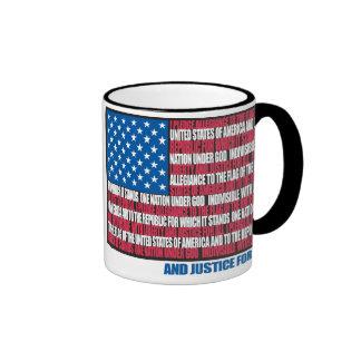 Pledge of Allegiance Ringer Coffee Mug